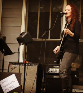 Performing at Oakhurst Porchfest 2019 - photo by C. Samalin